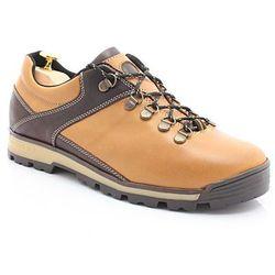 KENT 290 ŻÓŁTY - Trekkingowe buty męskie ze skóry - Żółty ||Brązowy Wyprzedaż -50 zł (-20%)
