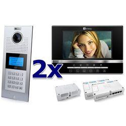 Zestaw wideodomofonowy 2 rodzinny Panel C5 C9E21L-C, 2x Monitor C5 V13, Akcesoria