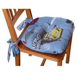Dekoria Siedzisko Marcin na krzesło, samochody na niebieskim tle, 40x37x8cm, Freestyle do -30%