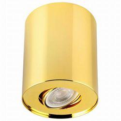 Regulowana LAMPA sufitowa PILAROS LS-DW001-ZŁOTA Auhilon metalowa OPRAWA downlight tuba złota