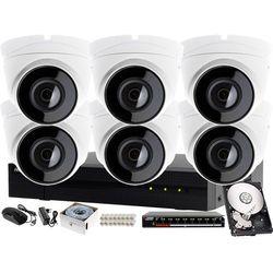 Monitoring CCTV dla firm i domu Hikvision Hiwatch Rejestrator IP HWN-4108MH + 6x Kamera FullHD HWI-T220H + Akcesoria