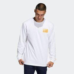 koszulka ADIDAS - Omeally Nyc Architecture Ls Tee White (WHITE)
