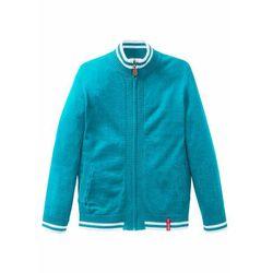 Sweter chłopięcy rozpinany bonprix ciemnoturkusowy