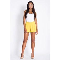 Żółte Krótkie Eleganckie Szorty