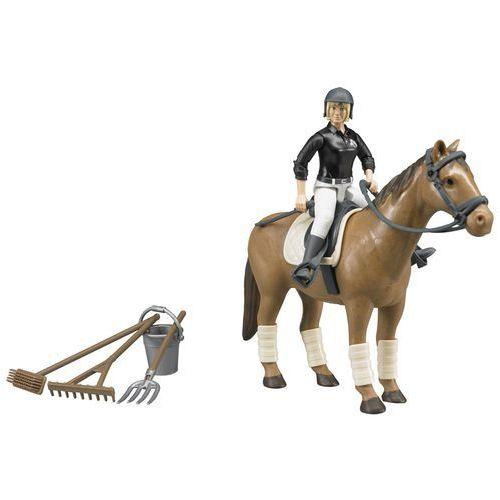 Figurki i postacie, BRUDER Zestaw koń, jeździec i akcesoria - BEZPŁATNY ODBIÓR: WROCŁAW!