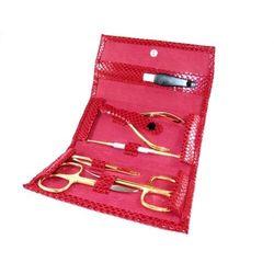 RED SNAKE GOLD - 6-częściowy zestaw do manicure ze złoconyi akcesoriami, SOLINGEN-Kiehl
