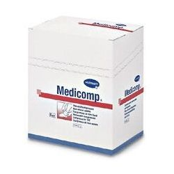 MEDICOMP Kompresy jałowe 4 warstwy 10x10cm 2x25 sztuk