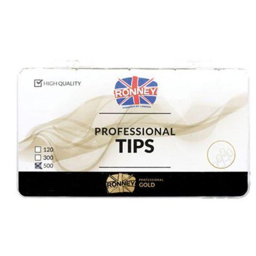 Tipsy, Ronney PROFESSIONAL TIPS FRENCH CREAM Tipsy french z małą kieszonką, kremowe (500 szt.)
