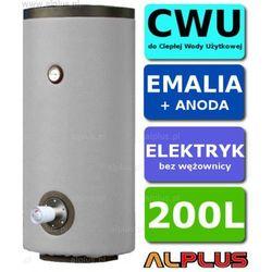Elektryczny bojler 200L Lemet z 1 grzałką 3kW lub inną do wyboru, EMALIOWANY, Ogrzewacz wody elektryczny pionowy stojący, 200 litrów, 125cm x 60cm, Wysyłka gratis