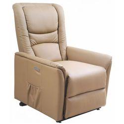 Podgrzewany fotel masujący Tanos - beżowy