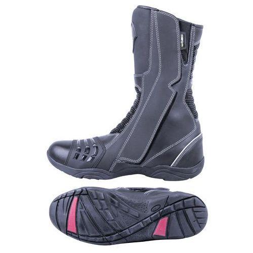 Buty motocyklowe, Skórzane buty motocyklowe W-TEC Wurben NF-6050, Czarny, 42