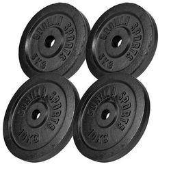 Zestaw obciążeń żeliwnych czarny 30kg
