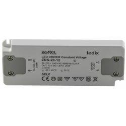 Zasilacz LED slim 12V DC 20W ZNS-20-12 LDX10000138
