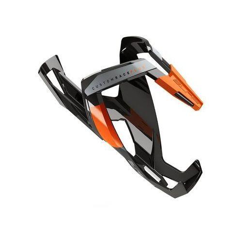 Bidony i koszyki, Koszyk na bidon ELITE Custom Race Plus czarny-pomarańczowy / Wykończenie: połysk