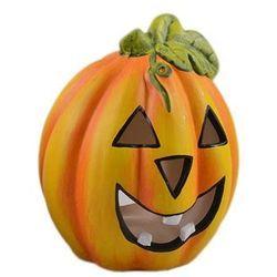 Lampion ceramiczny Dynia na Halloween - 10,5 cm - 1 szt.