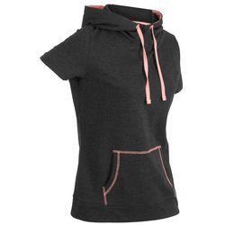 Bluza z krótkim rękawem bonprix czarno-łososiowy neonowy