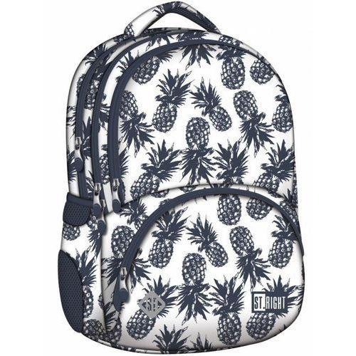 Tornistry i plecaki szkolne, ST.RIGHT Plecak szkolny 4 komory Pineapples 2019