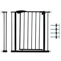 Bramka bezpieczeństwa do futryny+ R7cm - czarna 85-95