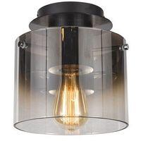 Lampy sufitowe, Italux Javier MX17076-1A BK Plafon oprawa sufitowa 1x60W E27 czarny/dymny