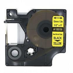 Rurka termokurczliwa DYMO Rhino 18056 12mm x 1.5m ø 3.0mm-5.1mm żółta czarny nadruk S0718310 - zamiennik | OSZCZĘDZAJ DO 80% -