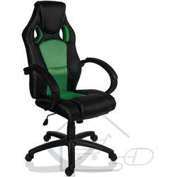 Fotel obrotowy dla gracza, RACEMASTER, zielony