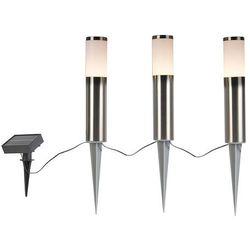 Zestaw 3 punktowych kolców ze stali, w tym dioda LED IP44 solar- Rox