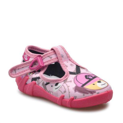 Obuwie domowe dziecięce, Kapcie dziecięce RenBut 13-102 Różowe pieski