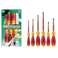 Wkrętaki i śrubokręty, WIHA Zestaw wkrętaków płaskich/ Phillips, SoftFinish electric slimFix, 6 sztuk 35389