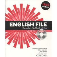 Książki do nauki języka, English File 3E Elementary WB With Key OXFORD - Praca zbiorowa (opr. miękka)
