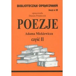 Poezje Adama Mickiewicza cz. II Zeszyt 38 (opr. miękka)