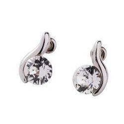 Kolczyki z kryształami Swarovskiego® bonprix srebrny kolor rodowany
