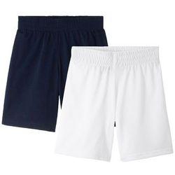 Spodnie sportowe, szybko schnące ( 2 pary) bonprix ciemnoniebieski + biały