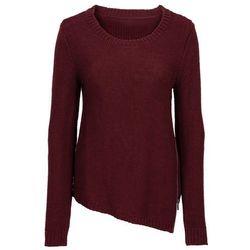 Sweter dzianinowy z zamkiem bonprix czerwony klonowy