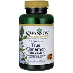Swanson Full Spectrum True Cinamon (Cynamon cejloński) 600mg 90 kaps.