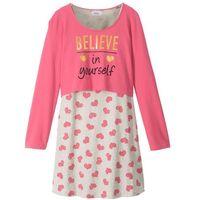 """Zestawy odzieżowe dziecięce, Sukienka + shirt """"boxy"""" (2 części) bonprix pastelowy dymny różowy - naturalny melanż"""