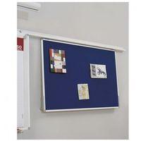 Tablice i flipcharty, Tablica tekstylna do systemu szynowego, 900x600 mm