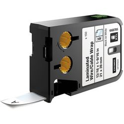 Etykiety DYMO XTL 150szt. laminowane opaski, na kable i przewody (21 mm x 39 mm), czarny na białym, 1868705 Dystrybutor DYMO! Oryginał