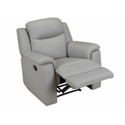 Fotel typu relaks EVASION ze skóry – Kolor jasnoszary