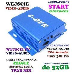 Miniaturowy Wielofunkcyjny Rejestrator Audio-Video, do Kamer Przewodowych... itd.