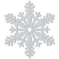 Ozdoby świąteczne, Dekoracja wisząca brokatowa Śnieżka - 28 cm - 1 szt.