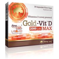 Witaminy i minerały, Olimp Gold-Vit D Max 2000 - 30 kaps.