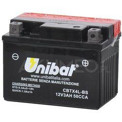 Akumulator UNIBAT AGM CBTX4L-BS 12V 3Ah 50A prawy+