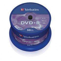 Płyty Verbatim DVD+R 4,7GB Cake 50szt. 43550