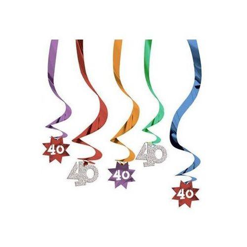 Pozostałe dekoracje, Dekoracja metaliczne świderki kolorowe - 40 tka - 5 szt.