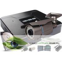 Zestawy monitoringowe, Zestaw pełny: Rejestrator GS-M1004NH-V2 + 4x Kamera GS-CM4-VF-V 720P + Dysk 1 TB