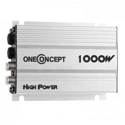 oneConcept 4-kanałowy wzmacniacz samochodowy o mocy 4x30W RMS srebrny
