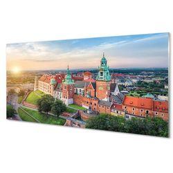 Panel Szklany Kraków Zamek panorama wschód słońca