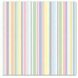 POL-MAK Serwetki 33 x 33 cm, 20 sztuk, Pastelowe paski (SDOG 014101) Darmowy odbiór w 21 miastach!