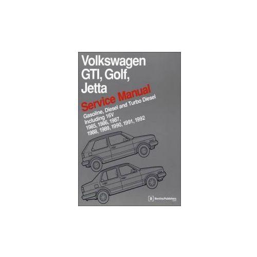 Biblioteka motoryzacji, Volkswagen GTI, Golf, Jetta Service Manual 1985-1992 Now in Hardcover
