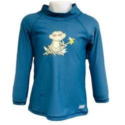 Bluzka kąpielowa koszulka dzieci 130cm filtr UV50+ - Petrol Jungle \ 130cm